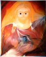 arte medianica cristo cuore di luce